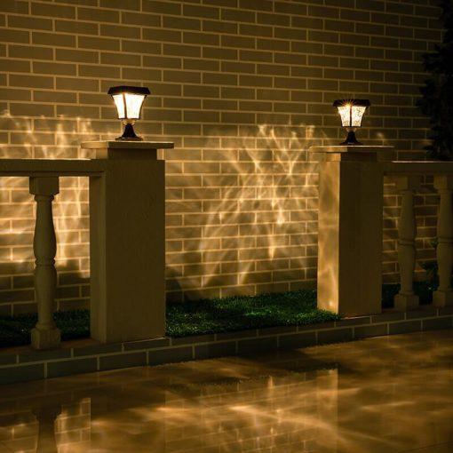luminaire solaire pour poteau exterieur