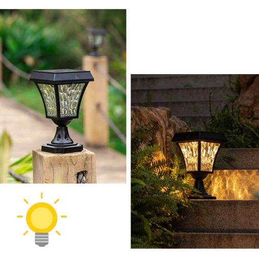 luminaire solaire pour poteau led