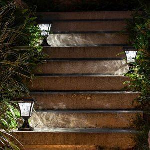 luminaire solaire pour poteau terrasse jardin