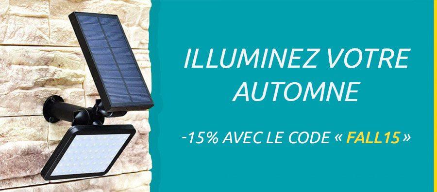 banniere luminaire solaire mobile automne