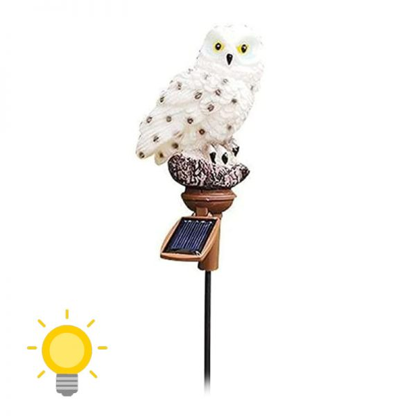 chouette lumineuse solaire