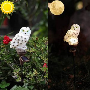 chouette lumineuse solaire led
