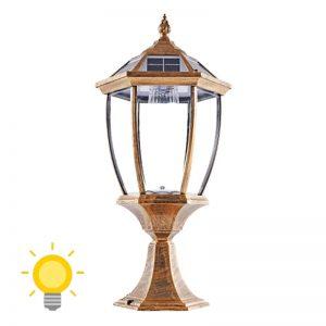 eclairage solaire sur pilier de portail 1