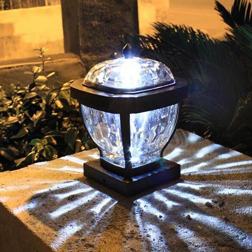 lampe solaire jardin pilier de portail 3