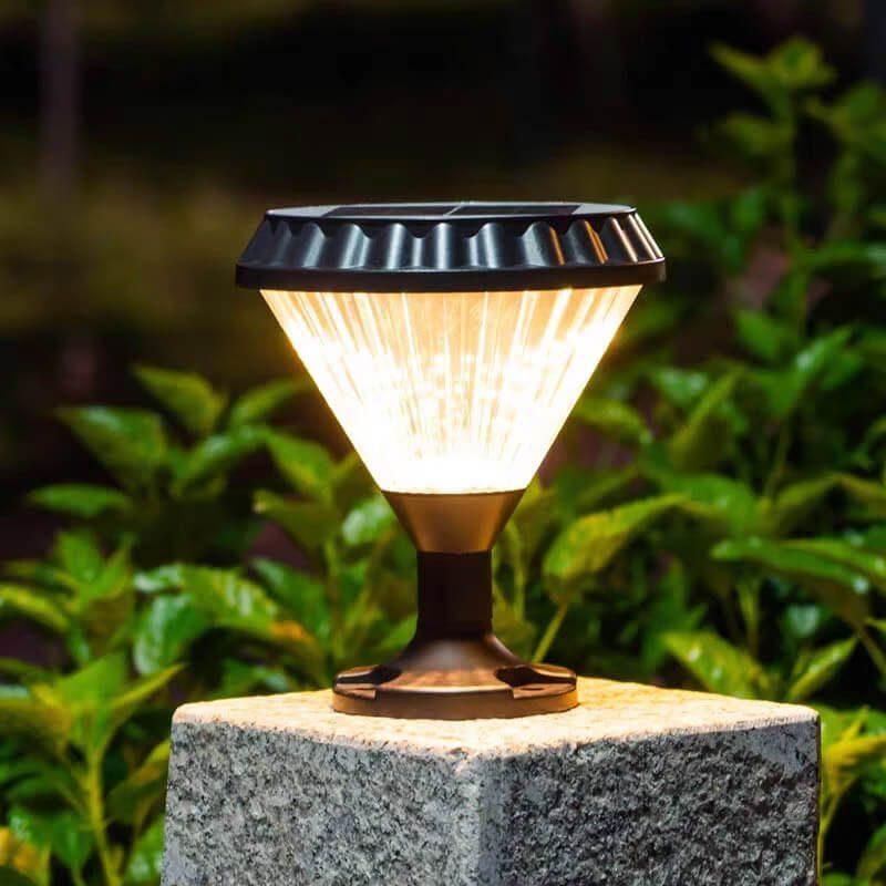 lampe solaire pilier exterieur jardin