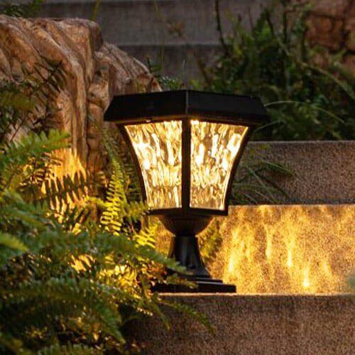 lampe solaire pilier portail