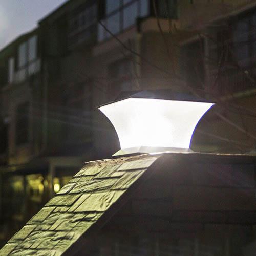 lampe solaire puissqnte6pilier de portail