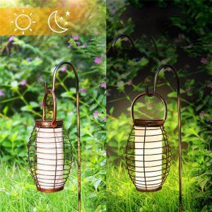 lanterne solaire exterieur a suspendre jardin