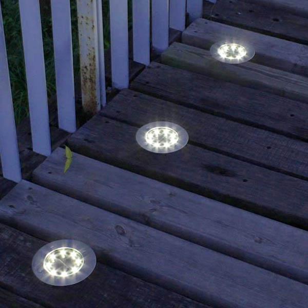spot solaire encastrable bois 1